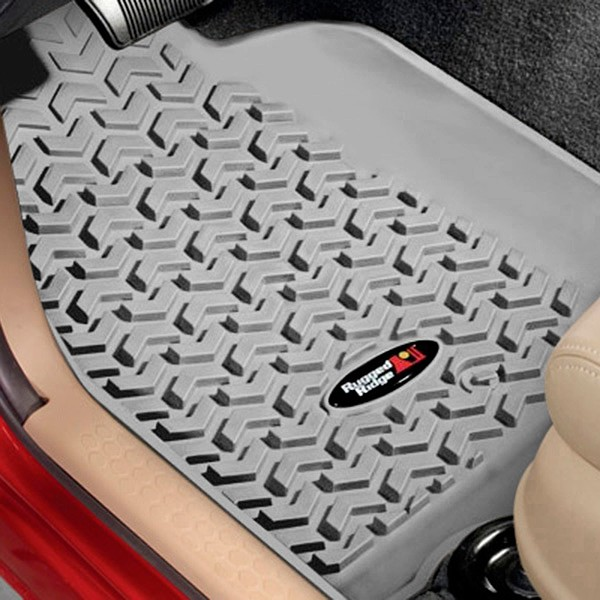 All Terrain Floor Liners, Kit, Gray, 11-17 Wrangler JK 2 Doors