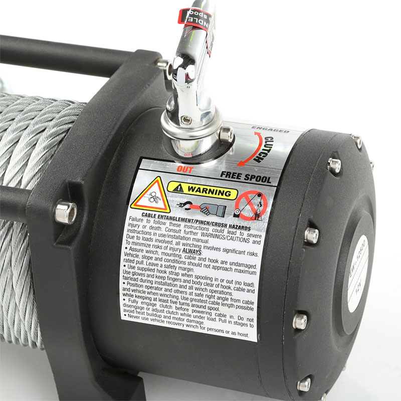 12500 lbs Spartacus Heavy Duty Winch with Steel Cable