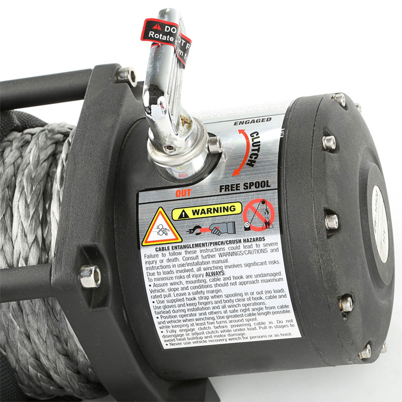 12500 lbs Spartacus Performance Winch with Synthetic Rope