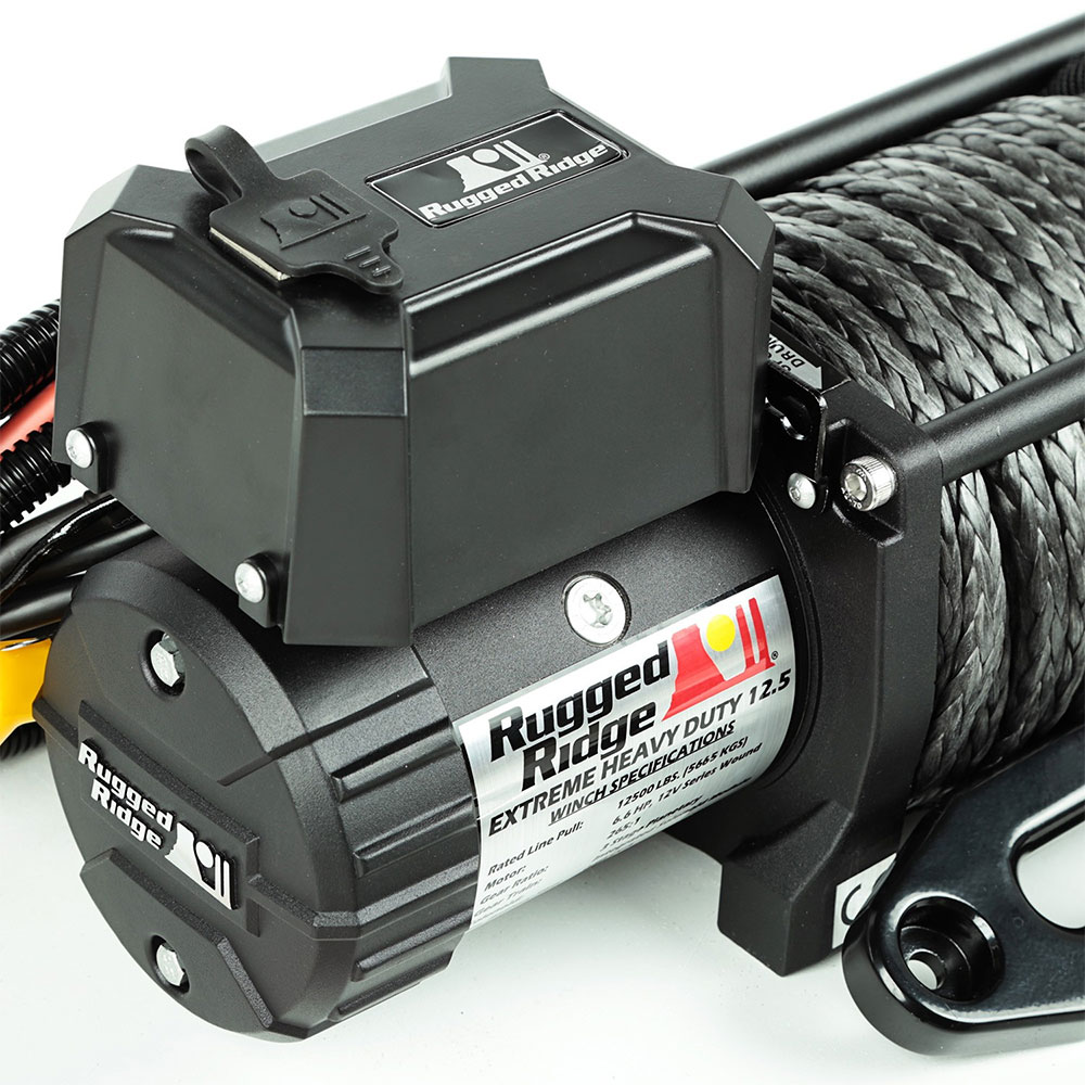 12500 LBS Nautic Winch, Synthetic Rope, Waterproof