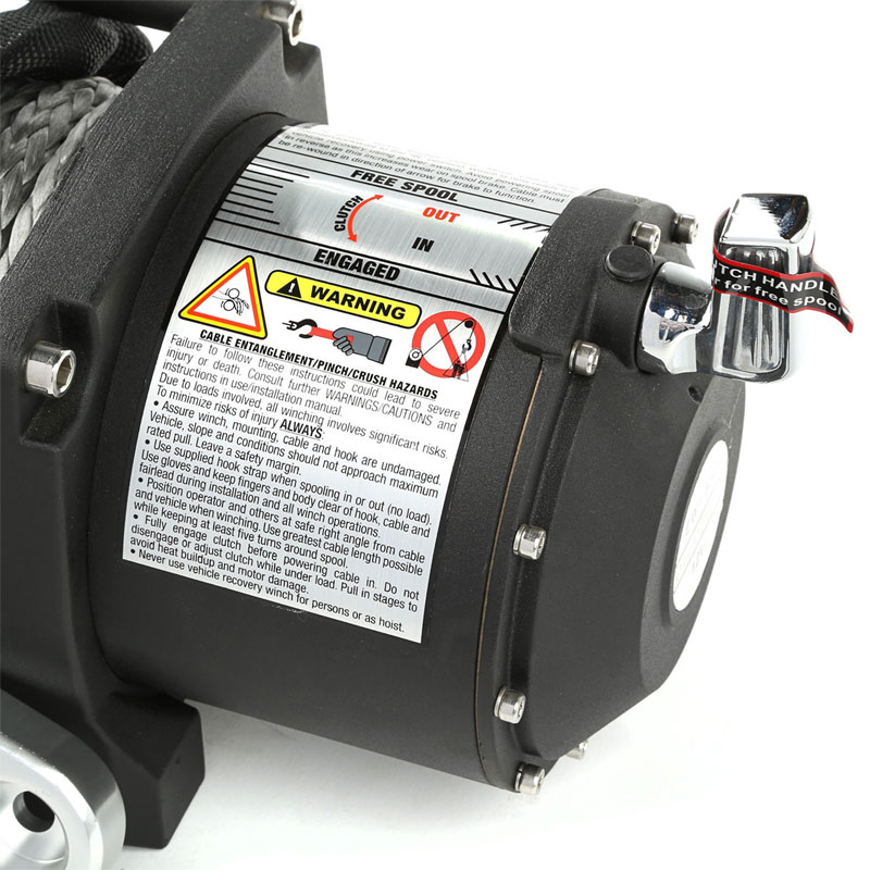 8,500 lbs Spartacus Performance Winch with Synthetic Rope