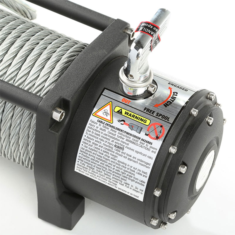 10500 lbs Spartacus Heavy Duty Winch with Steel Cable