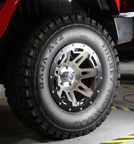 15250.02 - rugged ridge wheel rim protector black satin