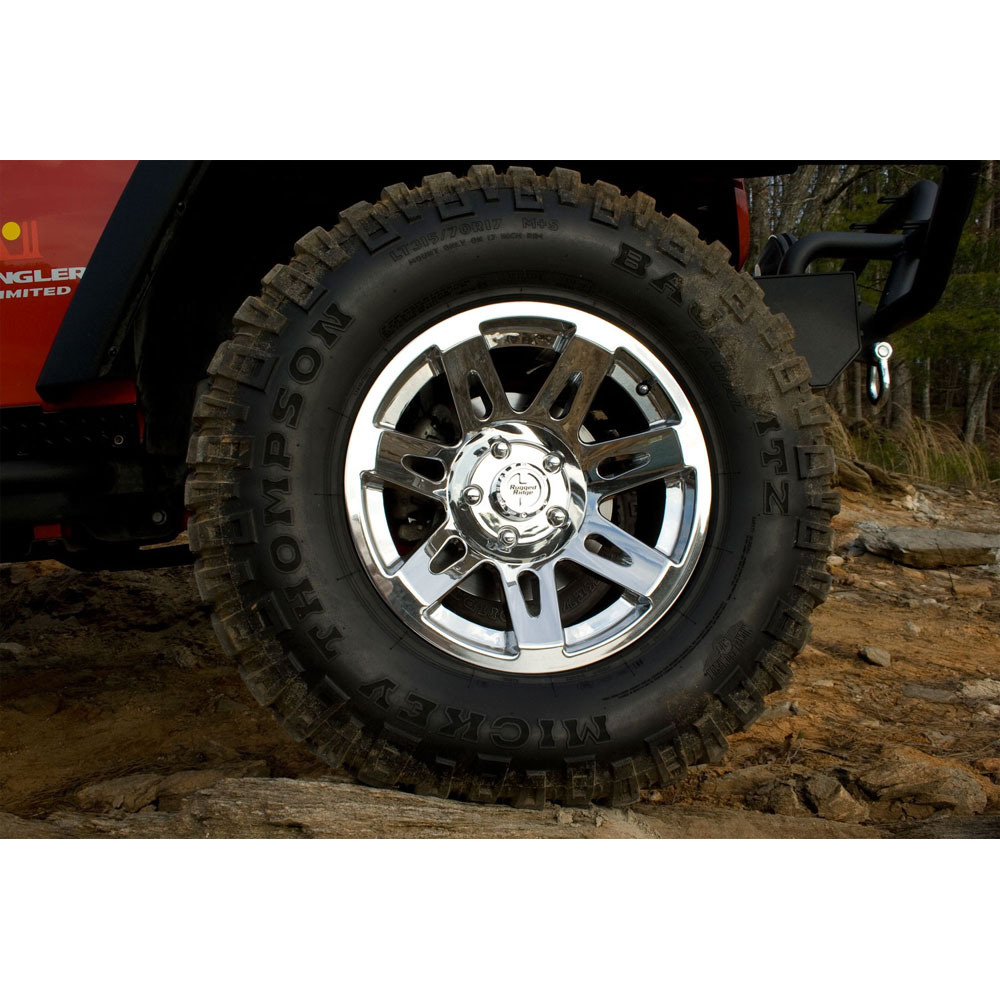 17x9 Aluminum Wheel, Polished Chrome, Jeep Wrangler JK JL