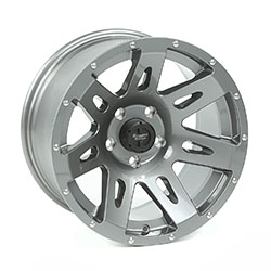 17x9 Aluminum Wheel, Jeep JK JL JT Gunmetal Power Coated