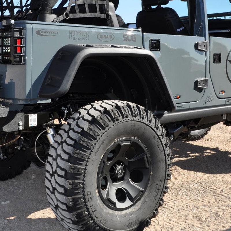 17x9 Aluminum Drakon Wheel 07 16 Wranglers Black Satin