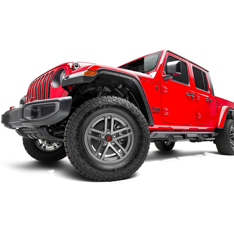 17x9 Jesse Spade Wheel, Jeep JK JL JT Satin Gun Metal
