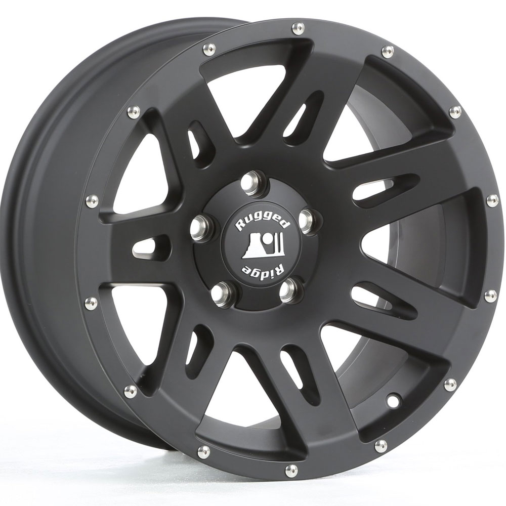 18x9 Aluminum Wheel, Satin Black