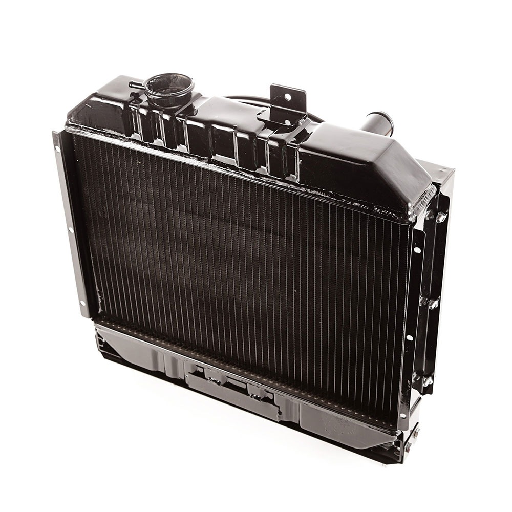 2 Core Radiator with Shroud, 41-52 Jeep Willys