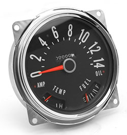 Speedometer Assembly 0-140 KPH dial, Jeep CJ 1955-79