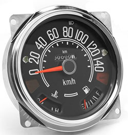 Speedometer Assembly 0-140 KPH dial, Jeep CJ, 1980-86
