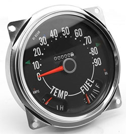 Speedometer Assembly 0-90 miles dial, Jeep CJ 1955-79