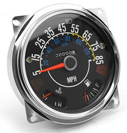 Speedometer Assembly 5-85 mile dial, Jeep CJ, 1980-86