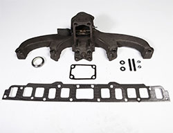 Exhaust Manifold Kit with Gasket, Jeep CJ 1968-80, 6 Cyl 199, 232 or 258
