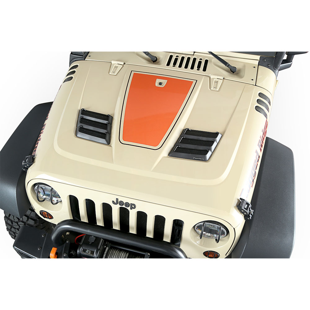 rugged ridge wrangler performance hood vents. Black Bedroom Furniture Sets. Home Design Ideas