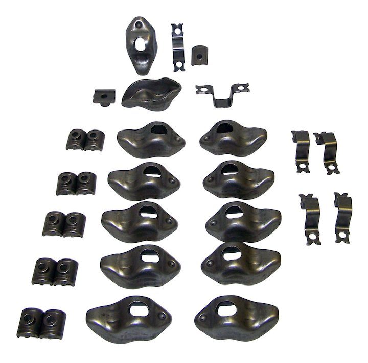 Rocker Arm Kit 74-82 Jeeps 6-258 and 6-232 Steel Pivot