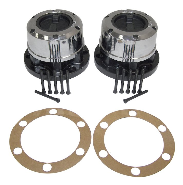 Manual Locking Hub Set, 72-80 Jeep CJ5
