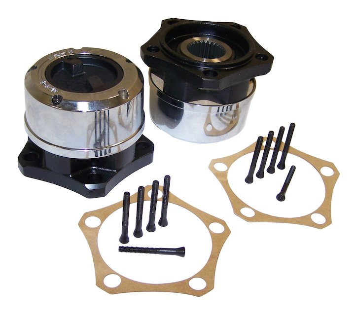 Manual Locking Hub Set, 81-83 CJ5, 81-86 CJ7, 81-86 CJ8