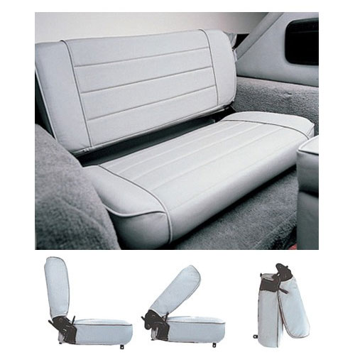 Fold & Tumble Rear Seat 97-06 Wrangler Grey Denim