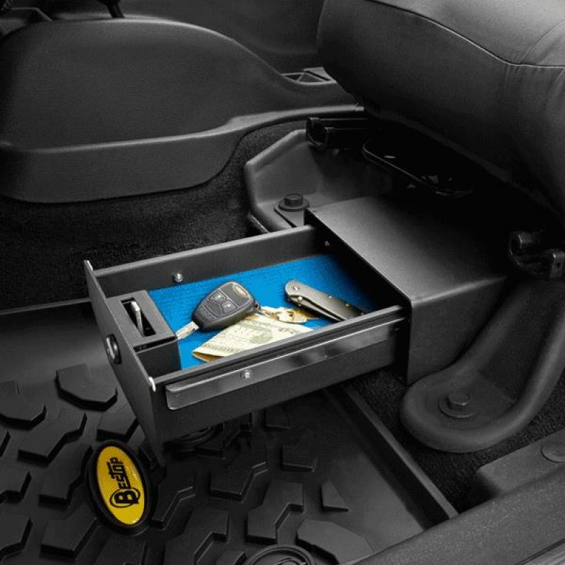 Bestop Driver Side Under Seat Storage Box, 07-10 Wranglers JK