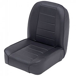 Low Back Bucket Seat Jeep CJ5 CJ7 1955-76 Black