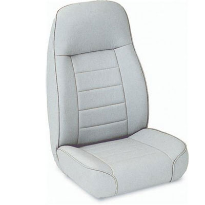 Standard High Back Bucket Seat 76-02 Jeep CJ Wranglers Grey Denim