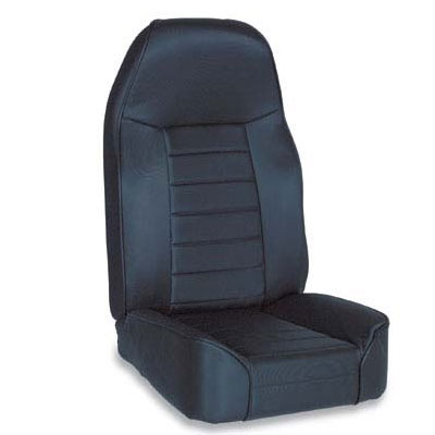 Standard High Back Bucket Seat 76-02 Jeep CJ Wranglers Black Denim
