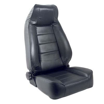 Replacement Seat with Recliner 76-92 Jeep CJ Wranglers Black Vinyl