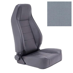 Replacement Seat with Recliner 76-92 Jeep CJ Wranglers Grey Denim