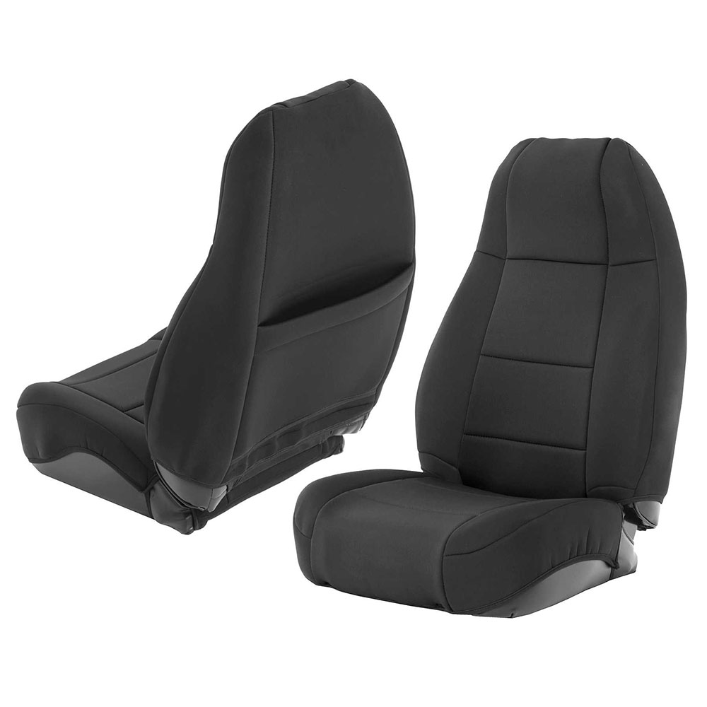 1976-90 Jeep CJ Wrangler Neoprene Seat Cover Set, Black