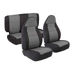 1997-02 Wrangler Neoprene Seat Cover Set, Black/Charcoal