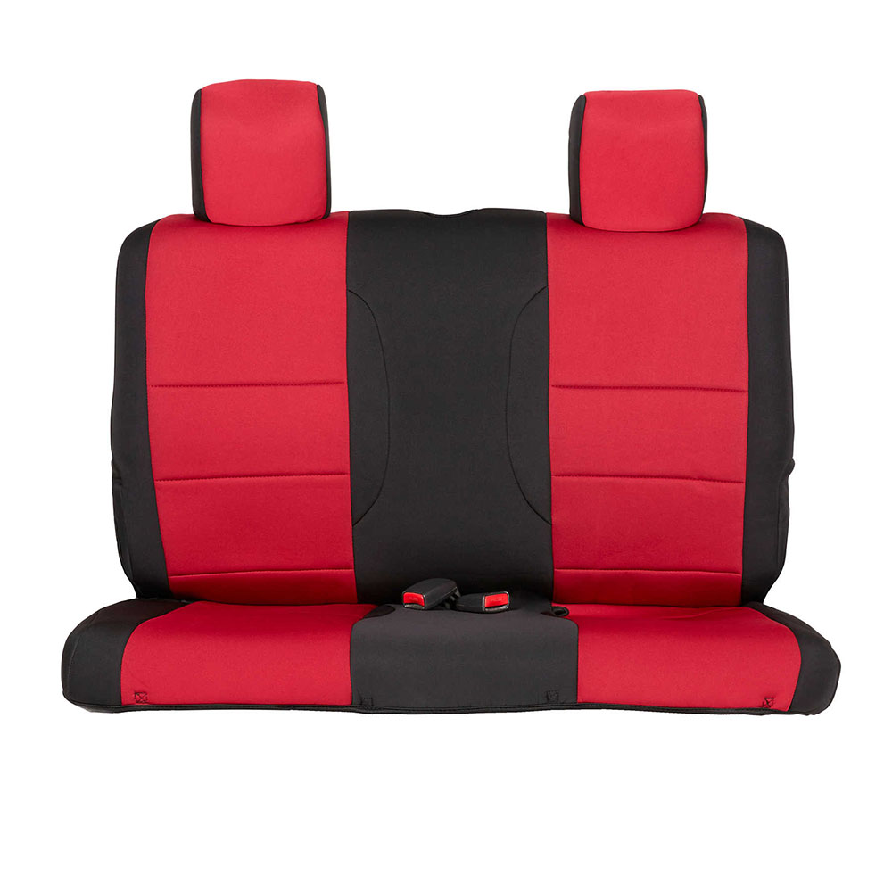 2007-12 Wrangler 2 Door Neoprene Seat Cover Set, Black/Red