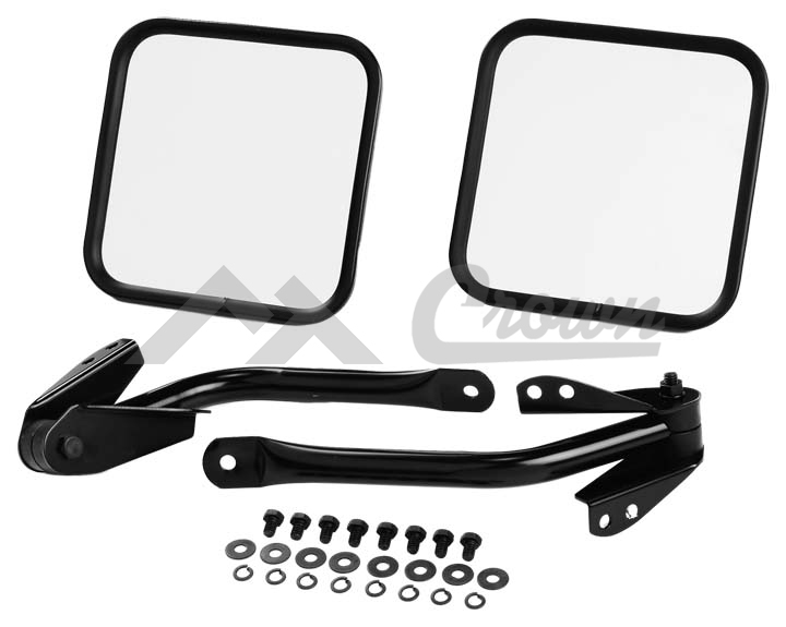 Mirror Kit, Windshield Hinge (Black)