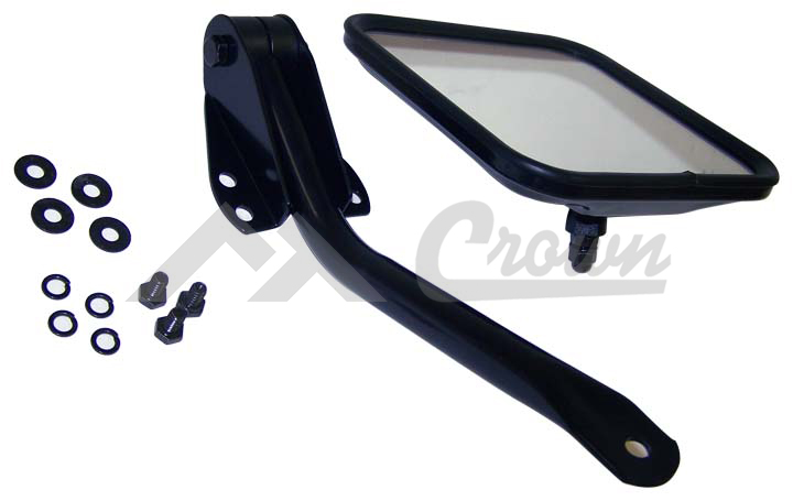 Jeep CJ YJ Side Mirror Kit, Black