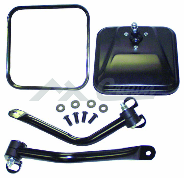 Side Windshield Mirror Kit (Black)