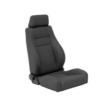Contour Sport Seat 76-92 Jeep CJ Wranglers Black Denim