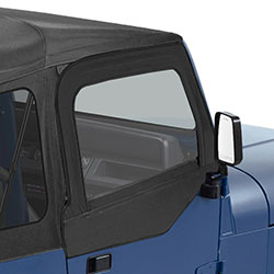 Bestop Supertop Upper Doors, Jeep Wrangler, 1988-95, Black Denim