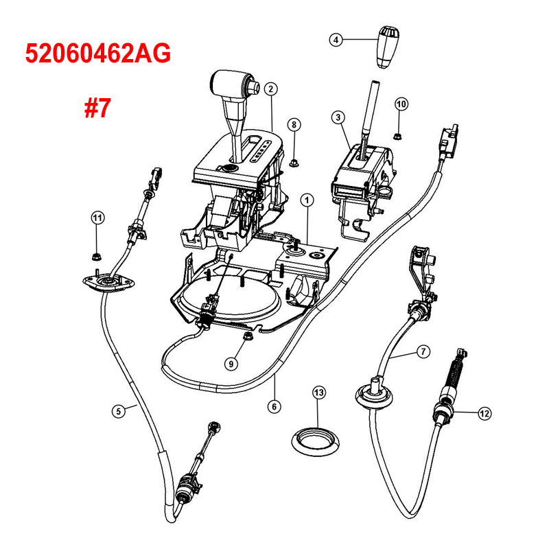 Transfer Case Shift Cable 0717 Wrangler P 22698 on Automatic Transmission Diagram