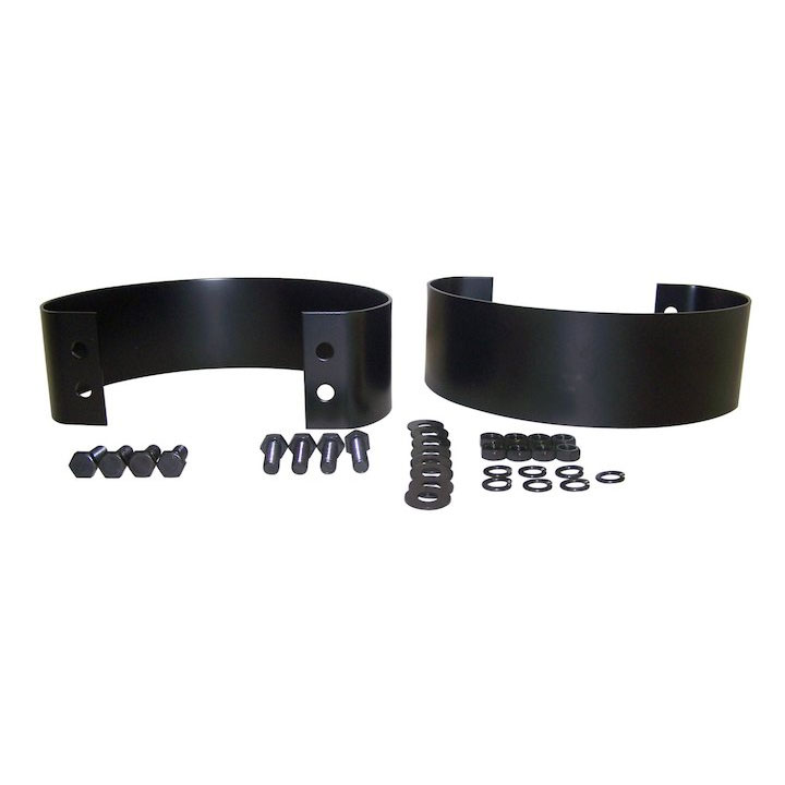 Rear Bumperette Kit, 76-95 CJ Wranglers, Black