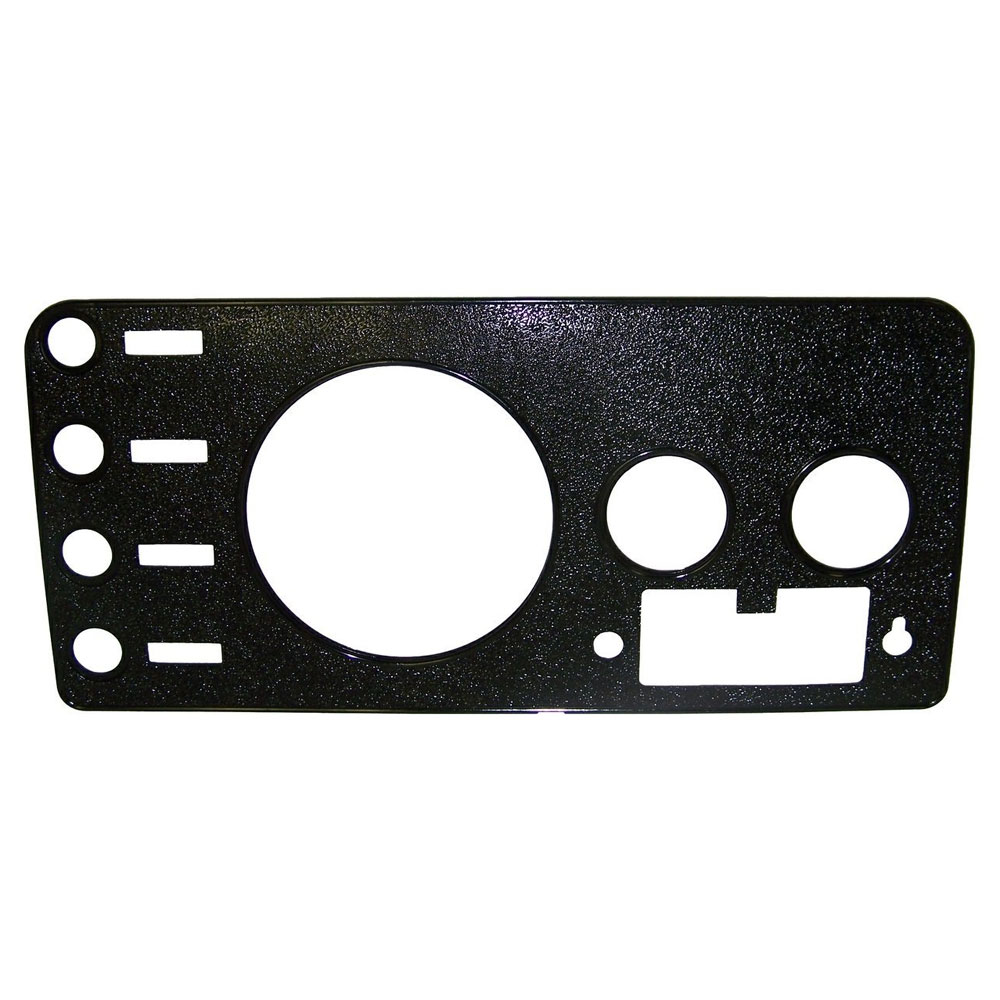 CJ Dash Overlay Panel, Radio Cutout, 76-86 Jeep CJ