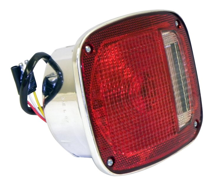 Right Tail Lamp Assembly, Chrome, 1976-80 Jeep CJ