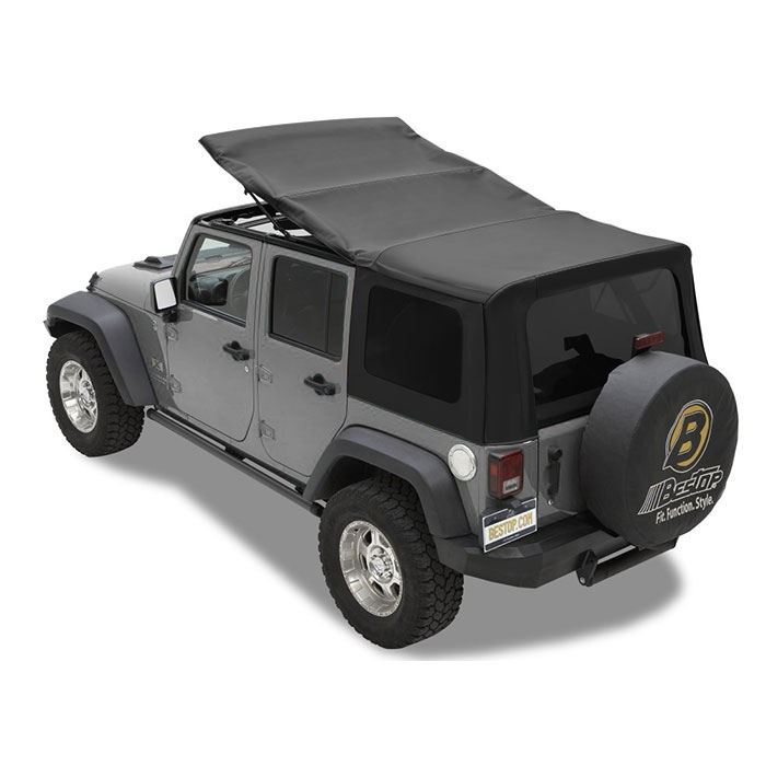 Bestop Twill Supertop NX Soft Top, 07-17 Wranglers 4 Doors