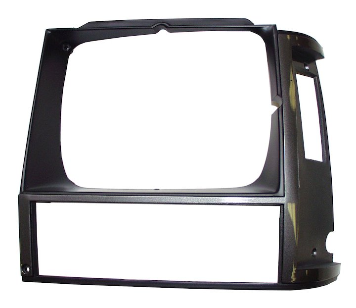 Headlamp Bezel, Left, Grey, 84-90 Cherokee XJ