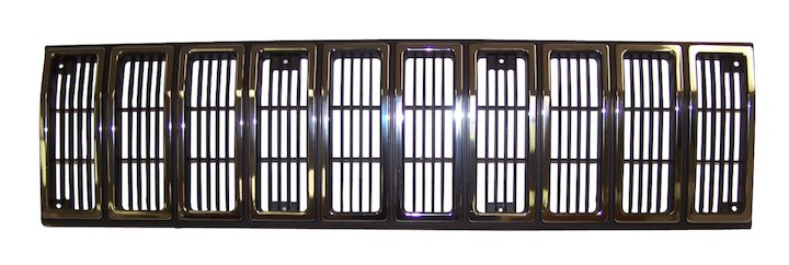 Cherokee Radiator Grille 84-87 Chrome Black