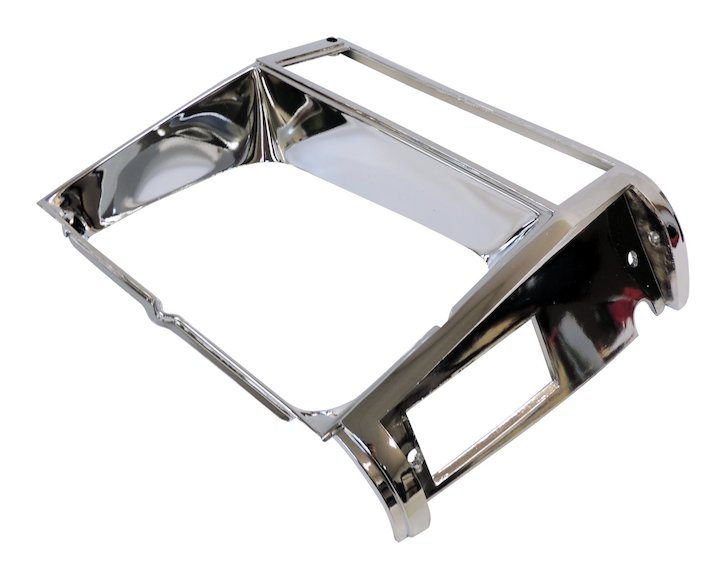 Headlamp Bezel, Right, Chrome, 84-90 Cherokee XJ