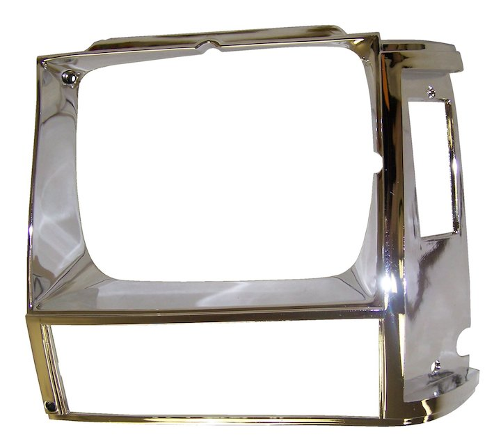 Headlamp Bezel, Left, Chrome, 84-90 Cherokee XJ