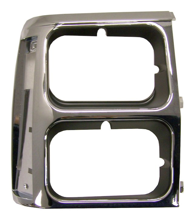 Headlamp Bezel, Right, Black/Chrome, 84-90 Wagoneer XJ