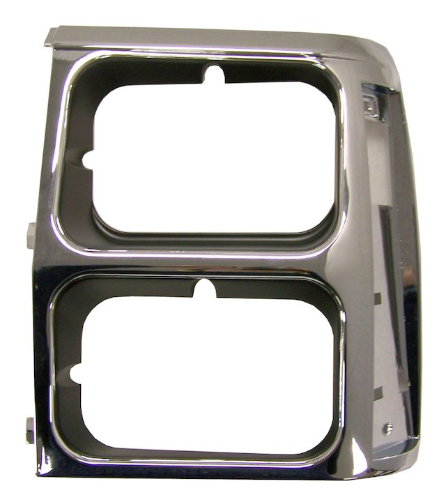 Headlamp Bezel, Left, Black/Chrome, 84-90 Wagoneer XJ