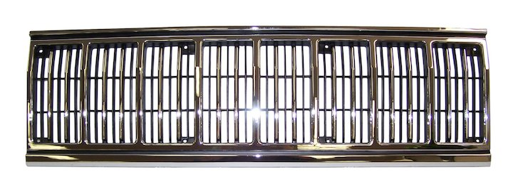 Cherokee Radiator Grille 91-96 Black Chrome