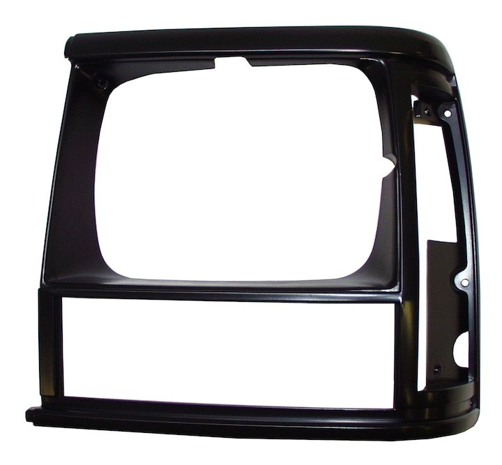Headlamp Bezel, Left, Black, 91-92 Cherokee XJ